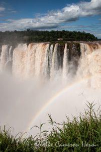 rainbow Cataratas del Iguazú waterfall wasserfall
